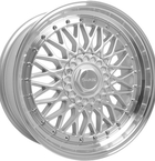 "Dare RS Silver Polished - Chrome Rivets 15""(D15704100-108SPDRS20-Dare-20-4x100-15-7)"