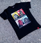 Japan Racing - T-Shirt Sort (S) Mænd()